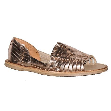 SBICCA Womens Peeptoe Woven Huarac Slip-on Sandal