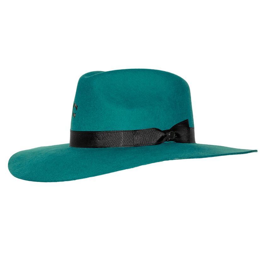 Charlie 1 Horse Highway Teal Felt Hat