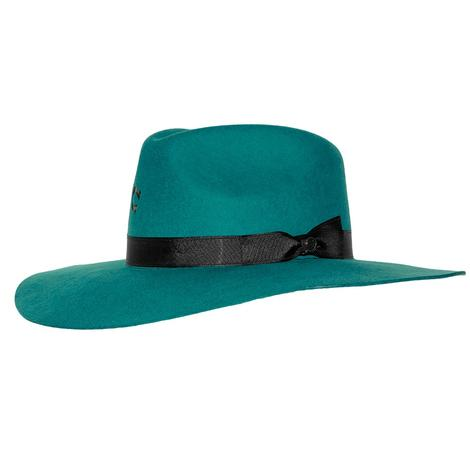 Charlie 1 Horse Highway Teal Felt Hat