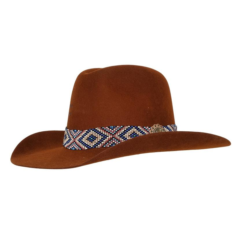 Charlie 1 Horse Old Hag Brown Felt Hat