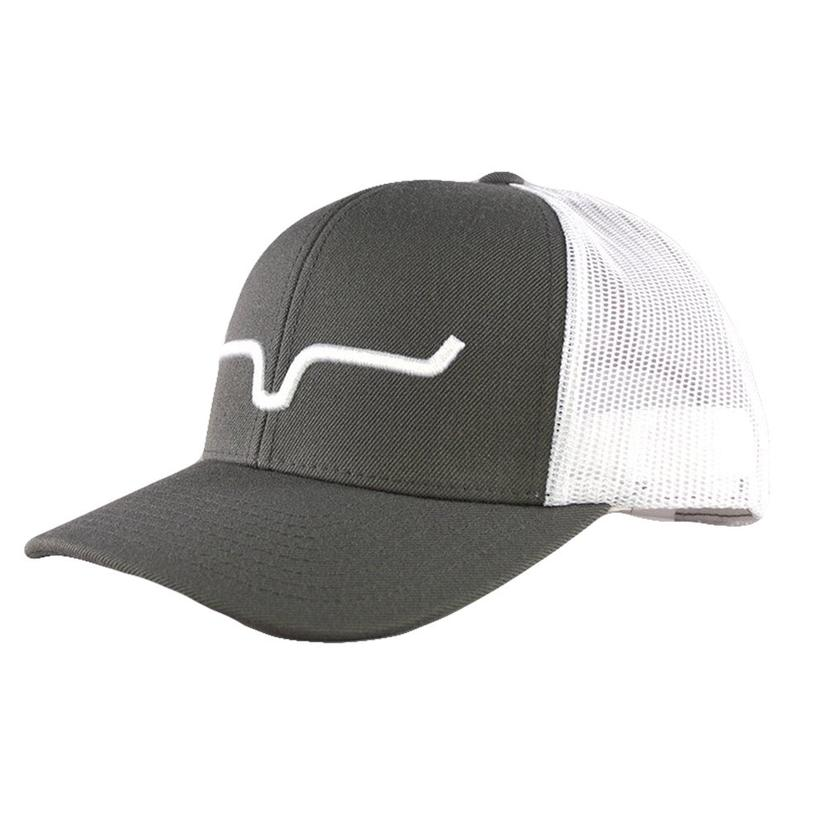 Kimes Ranch Charcoal White Weekly Trucker Meshback Cap