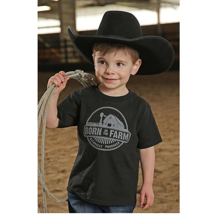 Cinch Born On A Farm Toddler T- Shirt