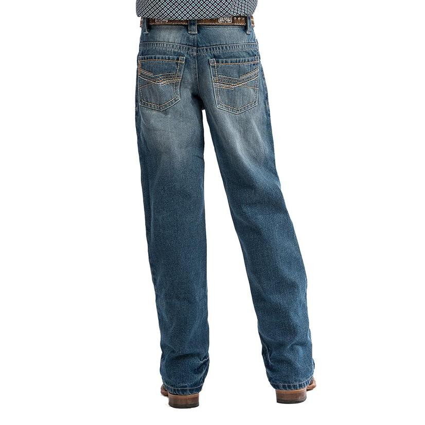 Cinch Relaxed Fit Stonewash Boys Jeans - Size 4- 7