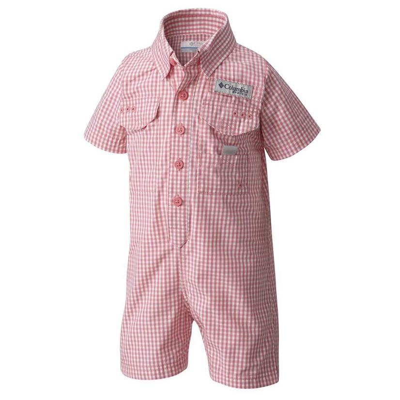 Columbia Infant Bonehead Lollipop Gingham Romper