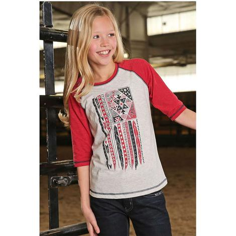 Cruel Girl Red Flag Baseball Sleeve Shirt
