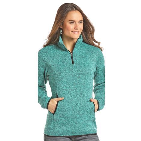 Panhandle Slim Jade Teal Performance Fleece Quarter Zip Pullover
