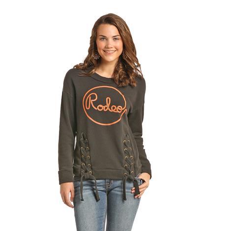 Panhandle Slim Rodeo Grey Tie Up Women's Sweatshirt