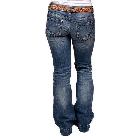 Rock and Roll Cowgirl Medium Vintage Distressed Jeans