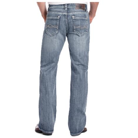 Rock & Roll Cowboy Double Barrel Straight Flat Seam Jeans
