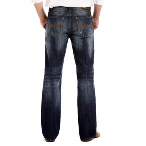 Rock and Roll Cowboy Double Barrel Straight Leg Jeans - Dark Wash