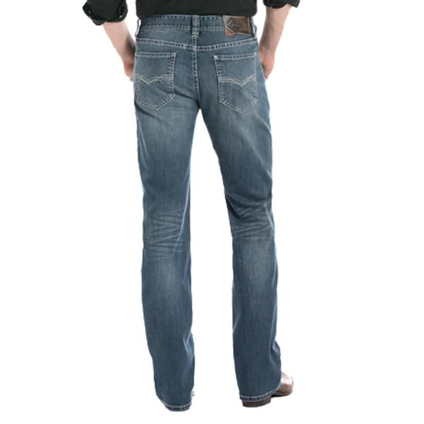 Rock And Roll Cowboy Reflex Medium Vintage Double Barrel Straigh Leg Jeans