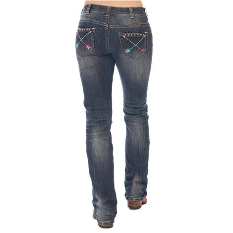 Cowgirl Tuff Wild Pathmaker Arrow Stitch Western Jeans