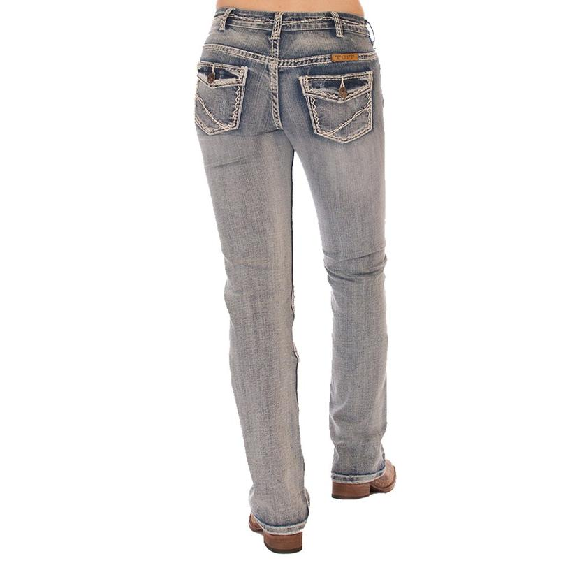 Cowgirl Tuff Womens Tuff Cookie Cream Western Jeans