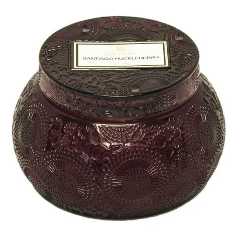 Voluspa Embossed Chawan Bowl Santiago Huckleberry Candle