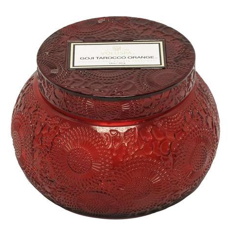 Voluspa Embossed Chawan Bowl Gogi Tarocco Candle