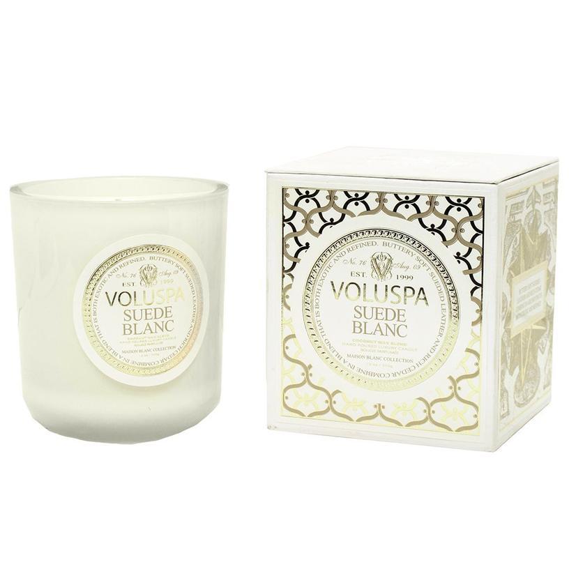 Voluspa Suede Blanc Classic Maison Candle