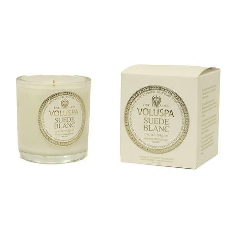 Voluspa Suede Blanc 3oz Classic Maison Votive Candle
