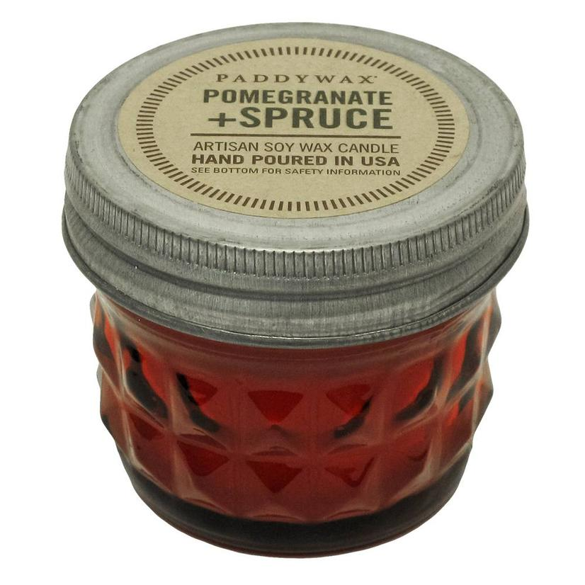 Paddywax Relish Jar Red Pomegranate Spruce 3oz Candle