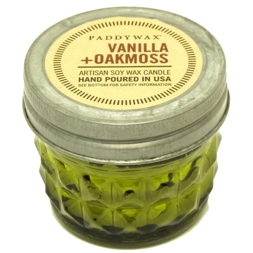 Paddywax Relish Jar Green Vanilla Oakmoss 3oz Candle