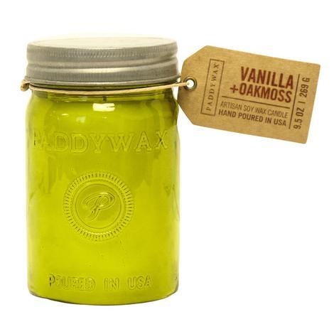Paddywax Relish Jar Green Vanilla Oakmoss 9.5oz Candle