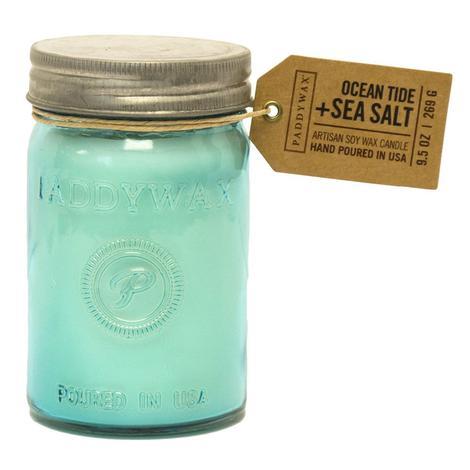 Paddywax Relish Jar Aqua Ocean Tide and Sea Salt 9.5oz Candle