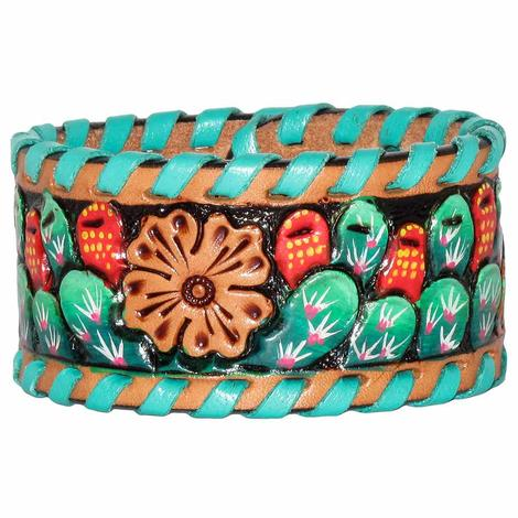 Rafter T Painted Cactus Cuff Bracelet