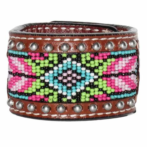 Rafter T Ranch Beaded Inlay Cuff Bracelet