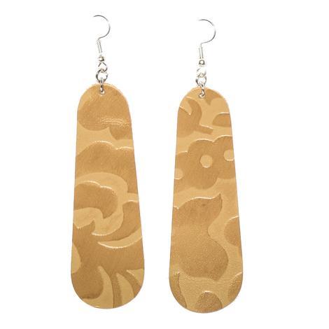 Miranda McIntire Long Gold Floral Earrings