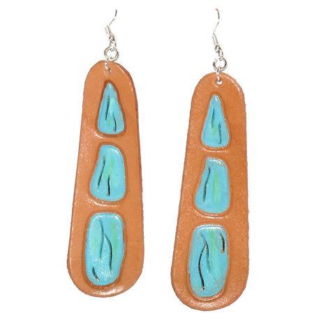 Long Turquoise Stone Earrings
