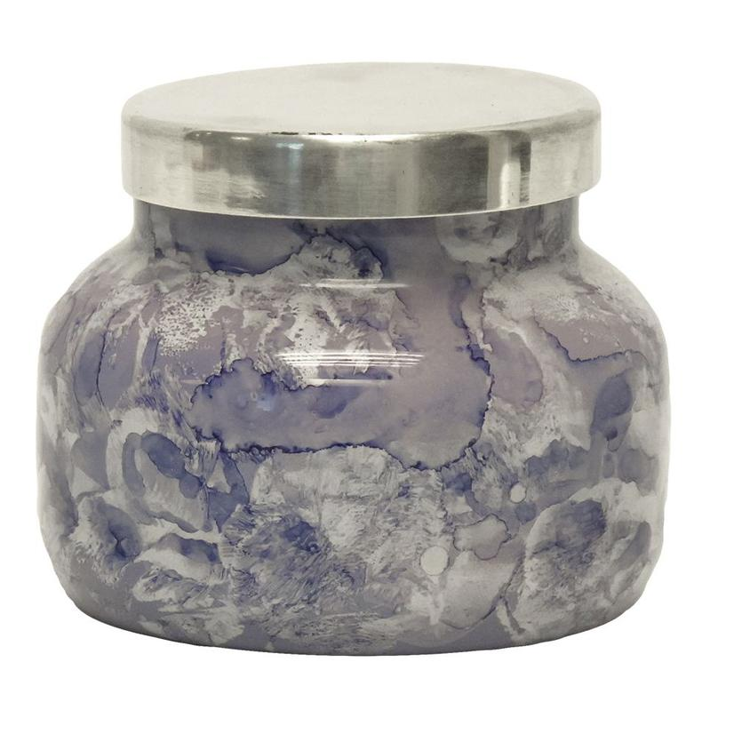 Blue Jean Petite Watercolor Jar 8oz Candle - Citrus White Musk