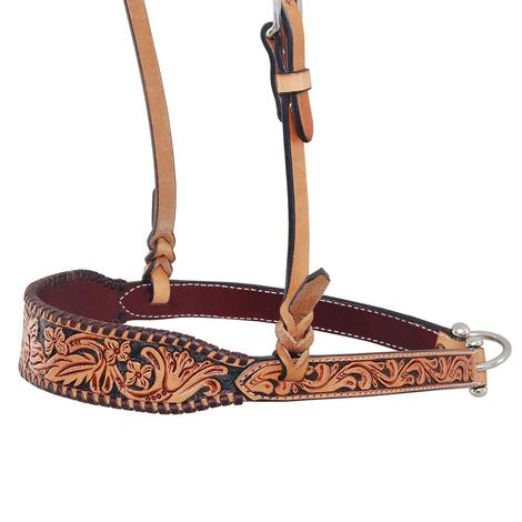 Rafter T Ranch Noseband Floral Tooled