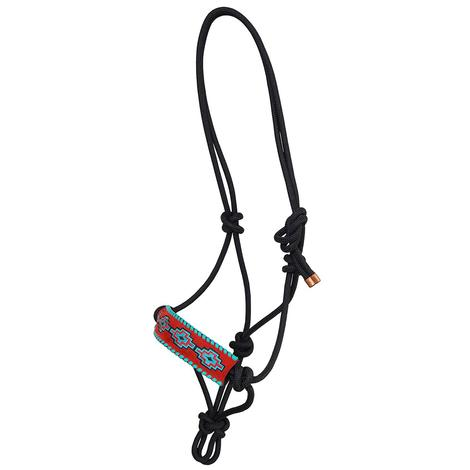 Rafter T Ranch Rope Halter Embroidered Aztec