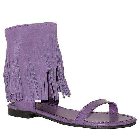 Very Volatile Fringe Ankle Cuff Girl's Flat Sandal