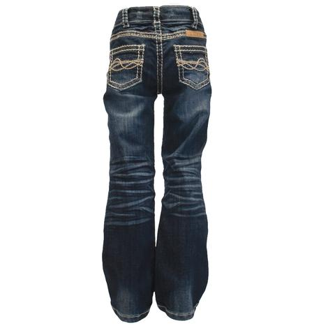 Cowgirl Tuff Girls No Limits Western Denim Jeans