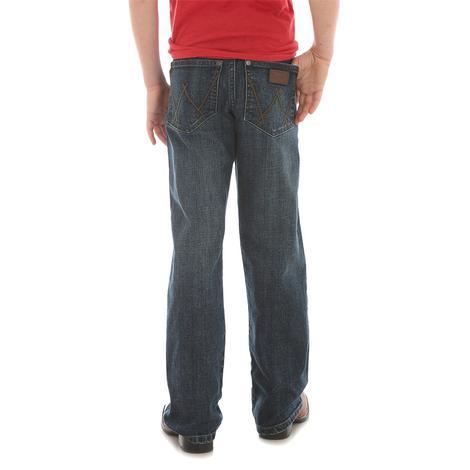 Wrangler Relaxed Boot Dark Wash Toddler Boy's Jeans