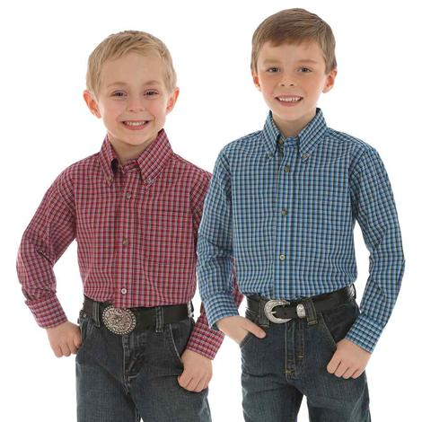Wrangler Riata Plaid Assorted Boy's Shirts