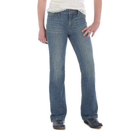 Wrangler Light Wash Boot Cut Girl's Jeans