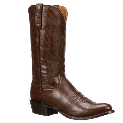 Lucchese Mens Antique Brown Lonestar Calf Round Toe Boots