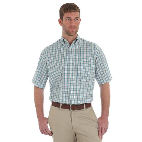 Wrangler Mens Riata Assorted Multicolor Plaid Short Sleeve Men's Shirts