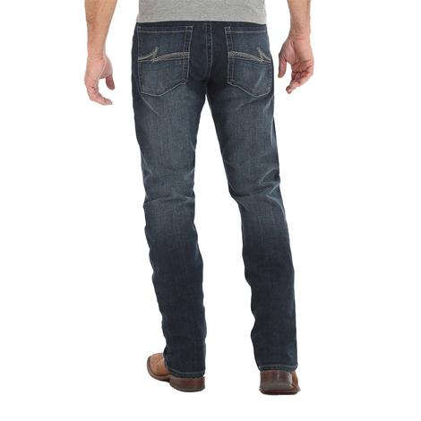 Wrangler Mens Slim Straight Dark Wash Jeans