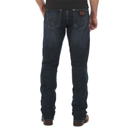 Wrangler Slim Straight Leg Dark Wash Men's Jeans