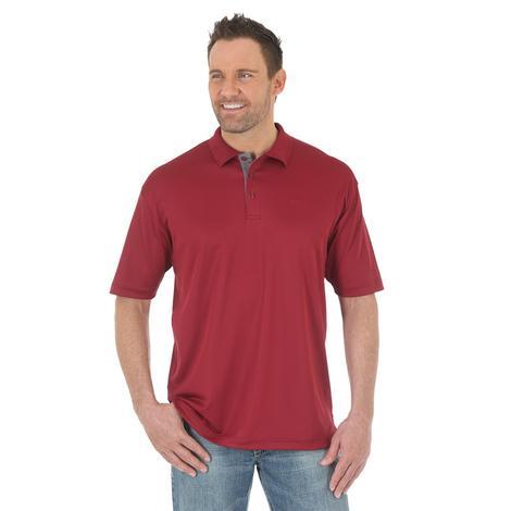 Wrangler Mens 20X Maroon Polo Pullover Shirt