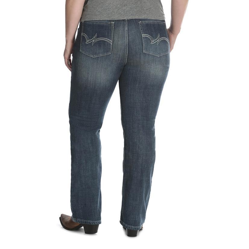 3f3ef480 Wrangler Womens Mid Rise Straight Leg Jeans - Plus Size