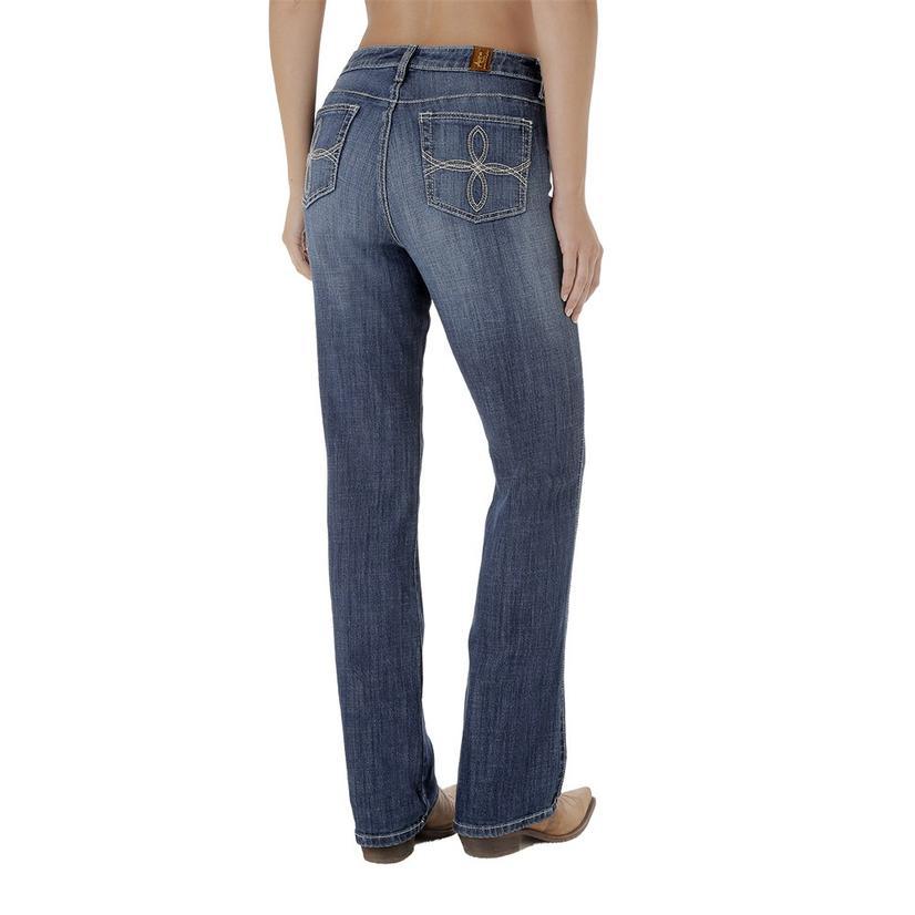 92fd34406d7 Wrangler Womens Aura Medium Wash Boot Cut Jeans