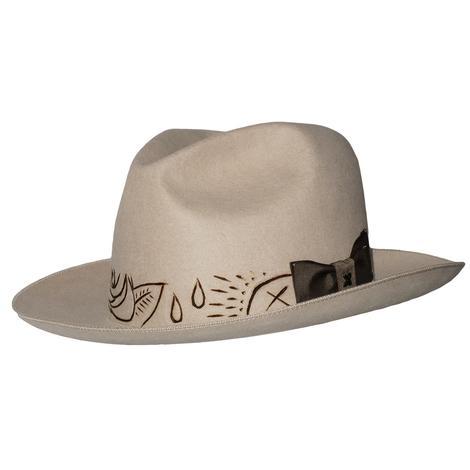 Greeley Hat Works High Desert Natural Felt with Henna Sketch Band