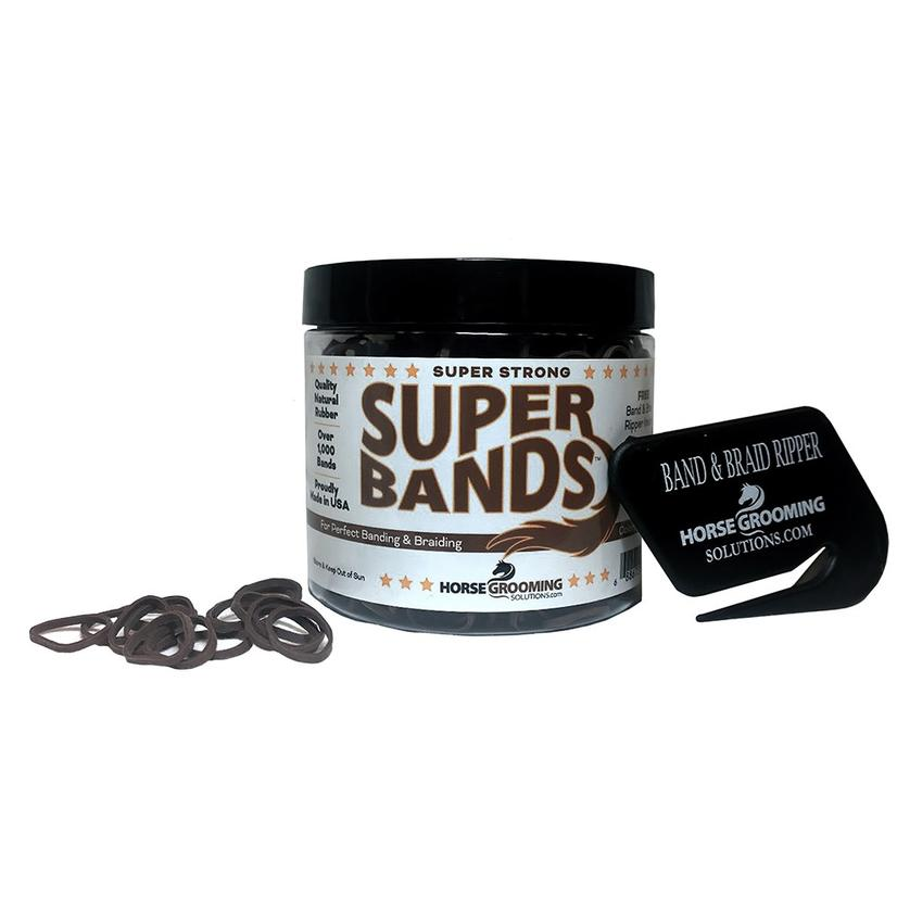 Super Bands Mane Bands with Cutter - Asst Colors BROWN