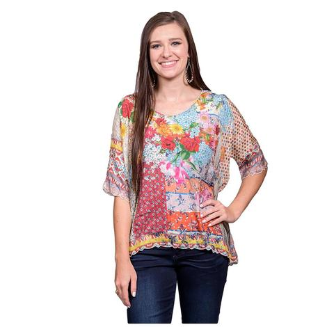 Johnny Was Womens Multifloral Luana Blouse