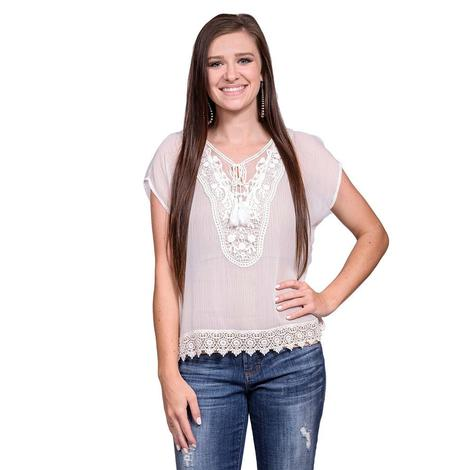 Ariat Womens Adeline Snow White Top