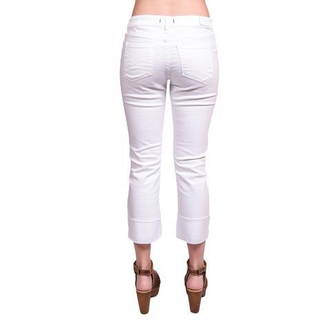 Dear John Womens Playback Cuffed Optic White Jeans