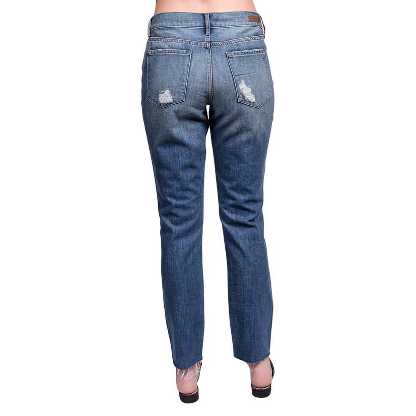Articles Of Society Shannon Slim Mid Rise Straight Leg Jeans